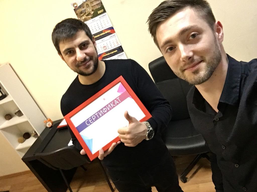 Алексан Арутюнян и Олег Днепровский